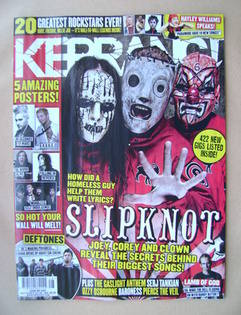 <!--2012-07-14-->Kerrang magazine - Slipknot cover (14 July 2012 - Issue 14