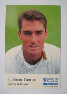 Graham Thorpe autograph