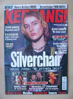 <!--1999-03-13-->Kerrang magazine - Daniel Johns cover (13 March 1999 - Iss
