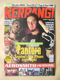 <!--1998-10-31-->Kerrang magazine - Phil Anselmo cover (31 October 1998 - I