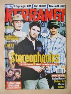 <!--1998-11-07-->Kerrang magazine - Stereophonics cover (7 November 1998 -
