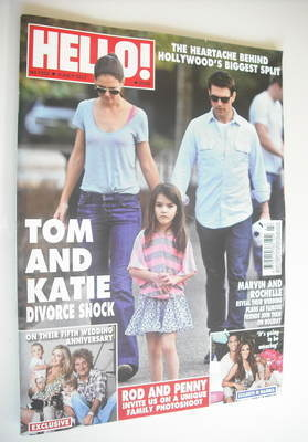 <!--2012-07-09-->Hello! magazine - Tom Cruise and Katie Holmes cover (9 Jul