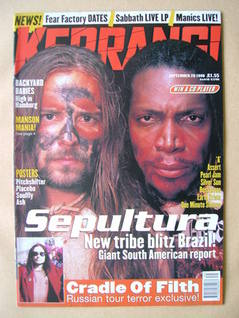 <!--1998-09-26-->Kerrang magazine - Sepultura cover (26 September 1998 - Is