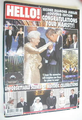 <!--2012-06-18-->Hello! magazine - Queen Elizabeth II Diamond Jubilee cover