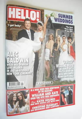 <!--2012-07-23-->Hello! magazine - Alec Baldwin wedding cover (23 July 2012