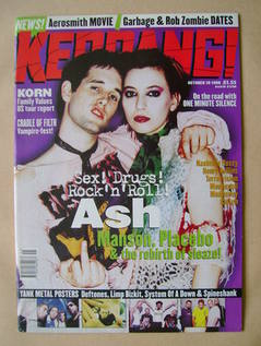 <!--1998-10-10-->Kerrang magazine - Ash cover (10 October 1998 - Issue 720)