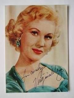 Virginia Mayo autograph