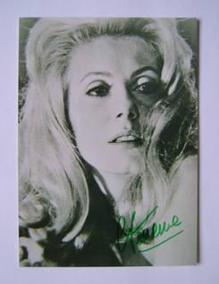 Catherine Deneuve autograph (hand-signed photograph)