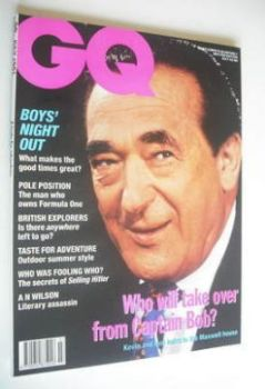 British GQ magazine - July 1991 - Robert Maxwell cover
