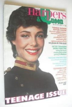 British Harpers & Queen magazine - August 1978 - Kelly LeBrock cover