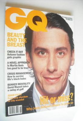 <!--1991-10-->British GQ magazine - October 1991 - Jools Holland cover