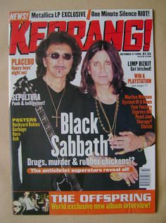 <!--1998-10-17-->Kerrang magazine - Tony Iommi and Ozzy Osbourne cover (17