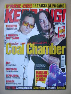 <!--1999-03-20-->Kerrang magazine - Coal Chamber cover (20 March 1999 - Iss