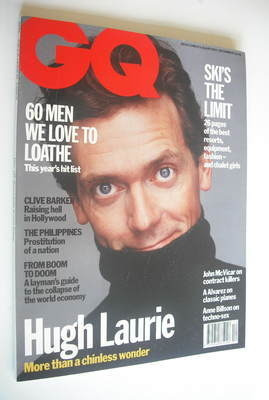 <!--1992-12-->British GQ magazine - December 1992 - Hugh Laurie cover
