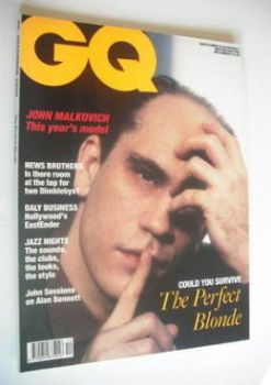 <!--1990-12-->British GQ magazine - December 1990 - John Malkovich cover