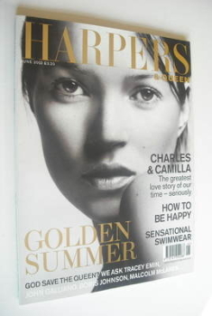British Harpers & Queen magazine - June 2002 - Kate Moss cover