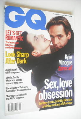 <!--1993-02-->British GQ magazine - February 1993 - Jeremy Irons and Juliet