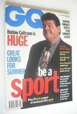 <!--1993-05-->British GQ magazine - May 1993 - Robbie Coltrane cover