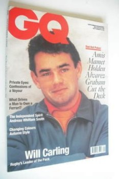 <!--1990-09-->British GQ magazine - September 1990 - Will Carling cover