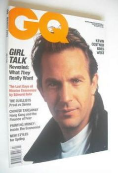 <!--1991-03-->British GQ magazine - March 1991 - Kevin Costner cover