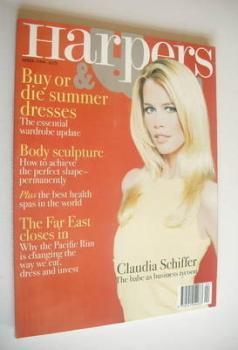 British Harpers & Queen magazine - April 1996 - Claudia Schiffer cover