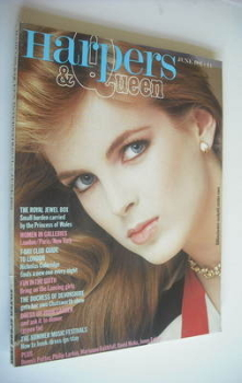 British Harpers & Queen magazine - June 1982