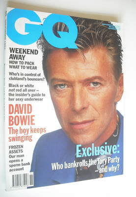 <!--1991-11-->British GQ magazine - November 1991 - David Bowie cover