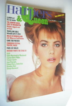 British Harpers & Queen magazine - August 1985