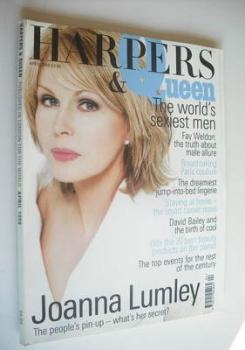 British Harpers & Queen magazine - April 1999 - Joanna Lumley cover