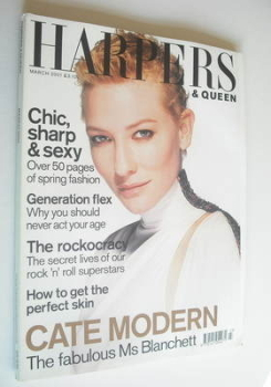 British Harpers & Queen magazine - March 2001 - Cate Blanchett cover