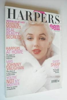 British Harpers & Queen magazine - October 1999 - Marilyn Monroe cover