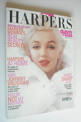 <!--1999-10-->British Harpers & Queen magazine - October 1999 - Marilyn Mon