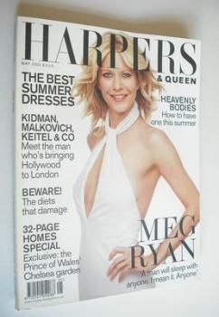 British Harpers & Queen magazine - May 2002 - Meg Ryan cover