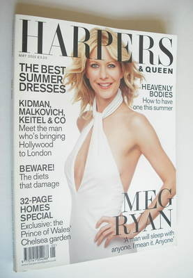 <!--2002-05-->British Harpers & Queen magazine - May 2002 - Meg Ryan cover