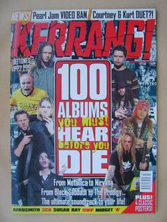 <!--1998-01-17-->Kerrang magazine - 100 Albums You Must Hear Before You Die