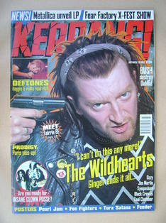 <!--1997-10-25-->Kerrang magazine - Ginger (The Wildhearts) cover (25 Octob