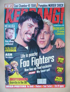<!--1997-10-18-->Kerrang magazine - Foo Fighters cover (18 October 1997 - I