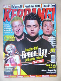 <!--1997-10-11-->Kerrang magazine - Green Day cover (11 October 1997 - Issu