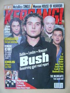 <!--1997-11-08-->Kerrang magazine - Bush cover (8 November 1997 - Issue 673