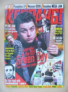 <!--1998-01-24-->Kerrang magazine - Green Day cover (24 January 1998 - Issu