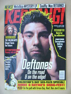 <!--1998-02-14-->Kerrang magazine - Chino Moreno cover (14 February 1998 -