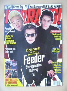 <!--1998-02-07-->Kerrang magazine - Feeder cover (7 February 1998 - Issue 6