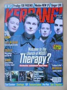 <!--1998-03-14-->Kerrang magazine - Therapy? cover (14 March 1998 - Issue 6