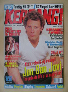 <!--1997-08-16-->Kerrang magazine - Jon Bon Jovi cover (16 August 1997 - Is