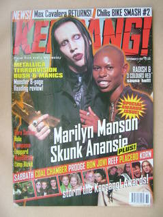 <!--1997-09-06-->Kerrang magazine - Marilyn Manson and Skin cover (6 Septem