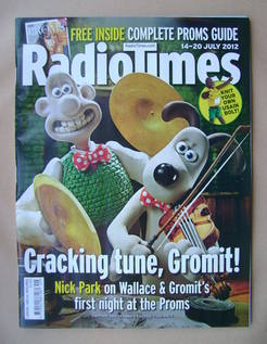 <!--2012-07-14-->Radio Times magazine - Wallace and Gromit cover (14-20 Jul