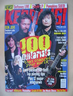<!--1998-03-07-->Kerrang magazine - 100 Guitarists That Changed Your World