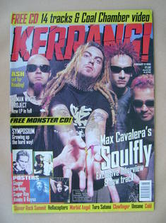 <!--1998-02-21-->Kerrang magazine - Soulfly cover (21 February 1998 - Issue