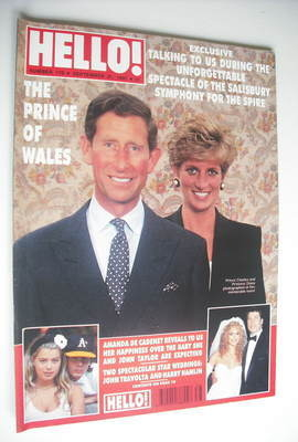 <!--1991-09-21-->Hello! magazine - Princess Diana and Prince Charles cover