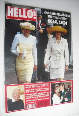 <!--1991-06-29-->Hello! magazine - Princess Diana and The Duchess of York c